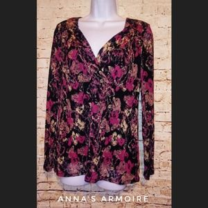Axcess Long Sleeve Top Size M